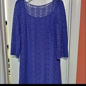 Lilly pulitzer purple crochet dress